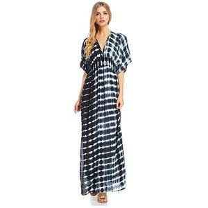 Lovestitch Women's Short Sleeve Flowy Maxi Dress
